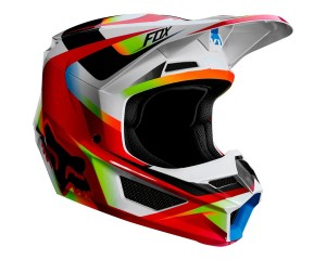 Kask FOX V-1 Motif red/white junior