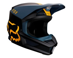 Kask FOX V-1 Mata navy/yellow senior