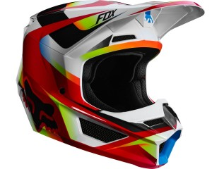Kask FOX V-1 Motif red/white senior