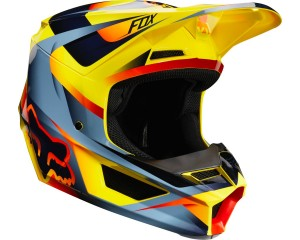 Kask FOX V-1 Motif yellow senior