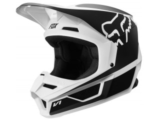 Kask FOX V-1 Przm black/white junior