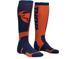 Skarpetki Thor S8 MX navy/orange junior