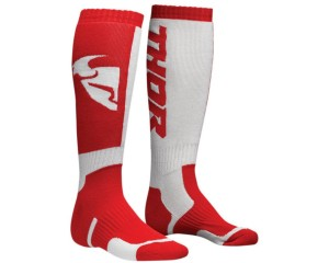 Skarpetki Thor S8 MX red/white senior